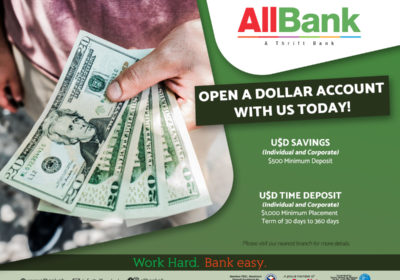Open A Dollar Account With Us today!