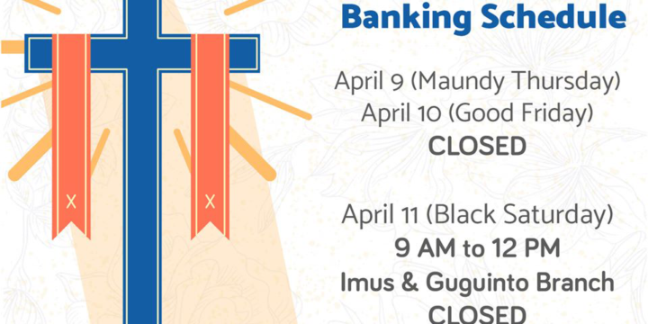 Holy Week Banking Schedule 2020