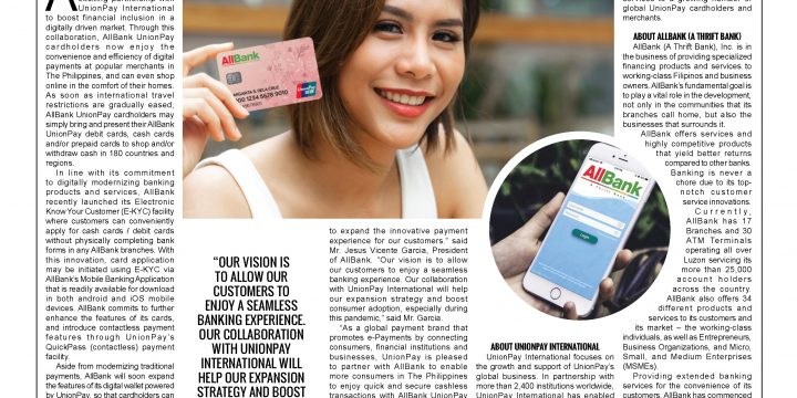 AllBank and UnionPay International Collaborate